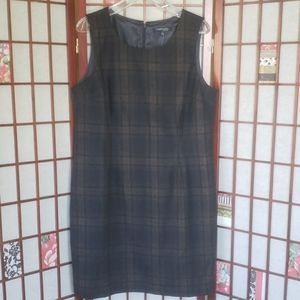 Chadwick 16 P wool blend tunic plaid  dress